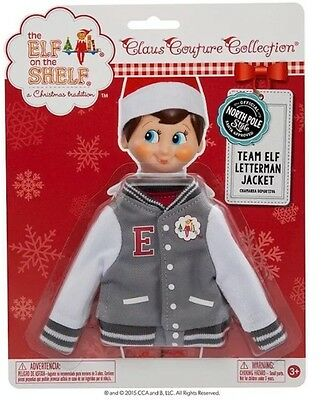 The Elf on the Shelf Claus Couture Team Elf Letterman Jacket 2015