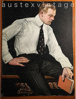 Orig 1910s Store Display Ad Placard for Arrow Collar Leyendecker  gay interest