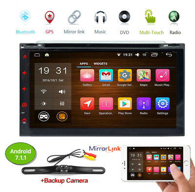 "7"" Android 6.0 2 Din Car Stereo Radio GPS WiFi 3G Mirorr OBD BT Link DVD Player"