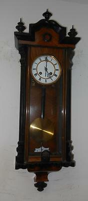 walnut and ebony cased vienna wall clock c1900s