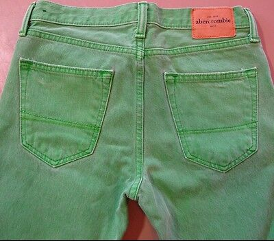 Abercrombie & Fitch Size 16 Jeans Mint Green Denim Pants 28x31 Kids Youth Skinny