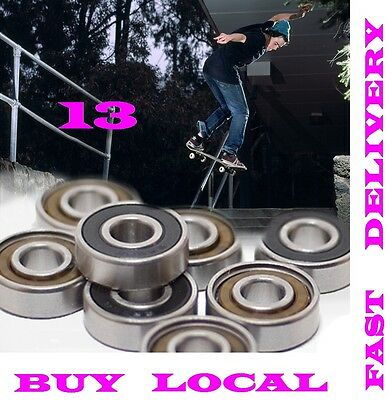 Skateboard Bearings Abec 13* Ceramic -Set Of 8