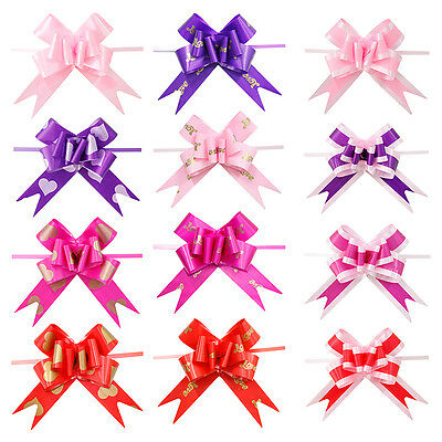10Pcs Ribbon Pull Bows Flower Wedding Party Door Decoration Gift Wrap QW