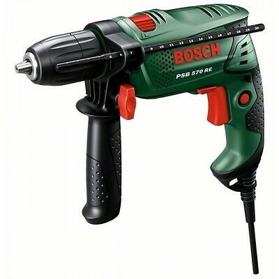 "Perceuse à percussion BOSCH ""PSB 570 RE"" + 4 forêts"