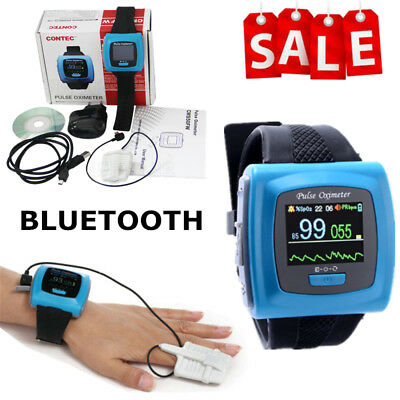 NEW contec CMS50F Wrist Pulse Oximeter Spo2 Monitor Daily Overnight Sleep CE FDA
