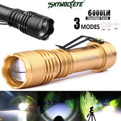 6000LM Q5 AA/14500 3Mode ZOOM LED Flashlight MINI Police Torch Super Bright