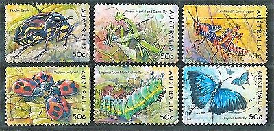 2003 Australian Stamps - Bugs and Butterflies Complete set of 6