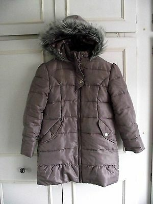 **MARKS & SPENCER** shimmer purple lilac, padded, hooded winter coat ~ age 9/10