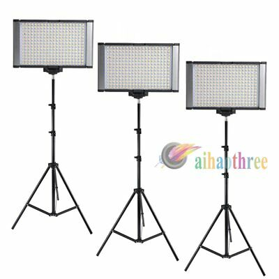 3Pcs VILTROX LED-300S Bi-Color Photography Studio Wedding DV LED Light Stand Kit