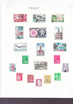France Stamps 3 Pages of Stamps