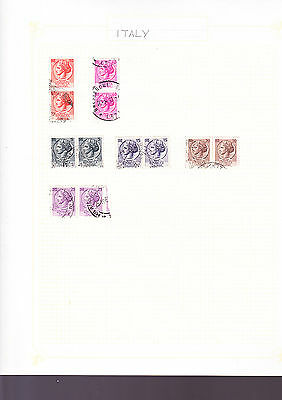 Italy Stamps 6 Pages of Stamps