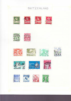 Switzerland Stamps 2 Pages of Stamps