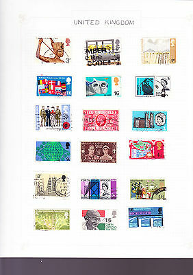 United Kingdom 8 Pages of Stamps #2