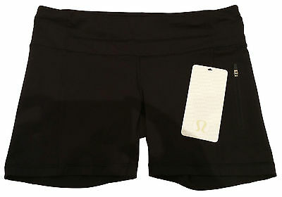Brand New with Tags! LULULEMON Black Run: Fast Track Short II Size UK 12