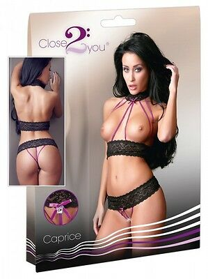 "Close2you Set schwarz M/L Spitzenset ""Caprice"" 