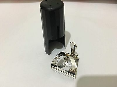 BG Traditional clarinet ligature, silver plated with cap