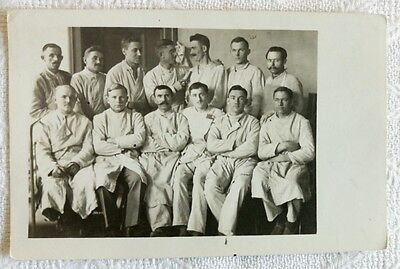 Germany Soldiers Wounded Infirmary Hospital Military  Wwi Red Cross Real Photo