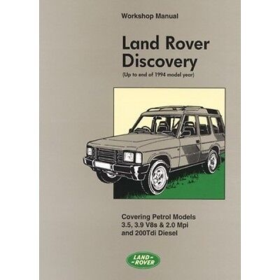 Land Rover Discovery Workshop Manual 1990-1994 MY book paper