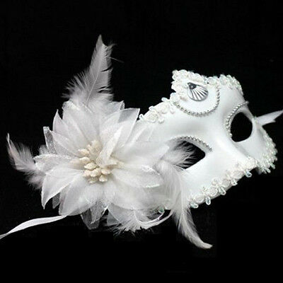 Newest Flower Feather Venetian Masquerade Ball Halloween Carnival Party Eye Mask