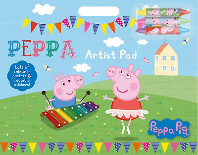 Peppa Pig Artist Pad Stickers Crayons Back to School  Gift party Bag Filler