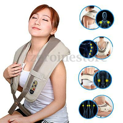 Electric Heat Neck Shoulder Back Waist Belly Foot Body Massager Shiatsu Kneading