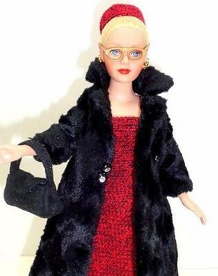 """On the Go Tonner 10"""" Tiny Kitty Doll w/Madame Alexander Coquette About Town Coat"""