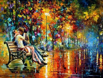 "PASSION EVENING  —  Oil Painting On Canvas By Leonid Afremov Size: 40""x30"""