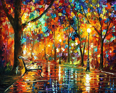 """Colorful Night —  Oil Painting On Canvas By Leonid Afremov. Size: 40""""x30"""""""