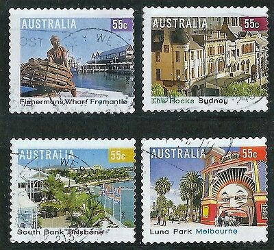 2008 Australian Stamps - Tourist Precincts  Complete Set of 4