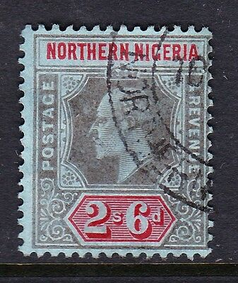 NORTHERN NIGERIA 1910-11 2/6d BLACK & RED SG 37 FINE USED.
