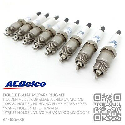 Acdelco Double Platinum Spark Plugs V8 253-308 Red Motor [Holden Hq-Hj-Hx-Hz]