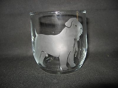 New Etched Wheaten Terrier Rocks Old-Fashioned Glass Tumbler
