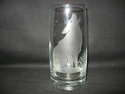 New Etched Coyote Pint Glass Tumbler