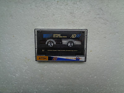 Vintage Audio Cassette TDK AD 90 * Rare Europe Version 1994 * Unsealed