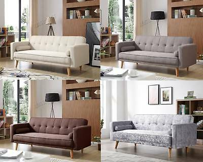 FoxHunter Fabric Sofa Bed 3 Seater Couch Luxury Modern Home Furniture FSB04 New