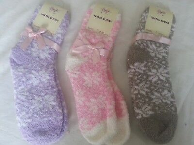 Ladies Girls Cosy Ankle  Slipper Bed Tactel Novelty Socks 4-6 Uk  37-40 Eur