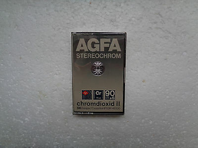 Vintage Audio Cassette AGFA Stereochrom 90+6 * Rare From 1980 *