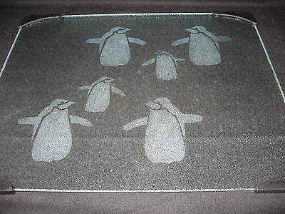 New Etched Penguin Tempered Glass Cutting Board