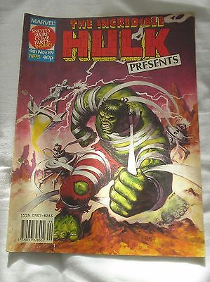The Incredible Hulk Presents Issue No.5 With A Doctor Who Comic Strip