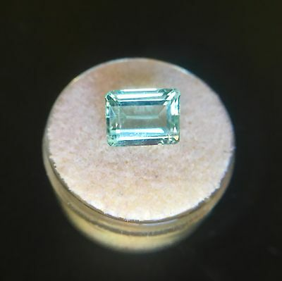 Big NATURAL Blue Aquamarine 3.61ct VVS Emerald Cut Santa Maria RARE Gem