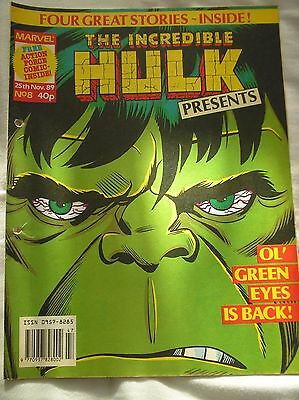 The Incredible Hulk Presents Issue No.8 With A Doctor Who Comic Strip