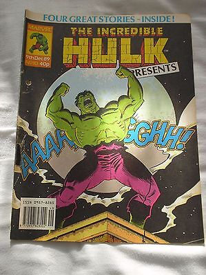 The Incredible Hulk Presents Issue No.10 With A Doctor Who Comic Strip