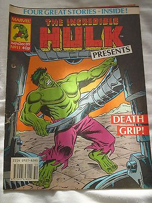 The Incredible Hulk Presents Issue No.11 With A Doctor Who Comic Strip