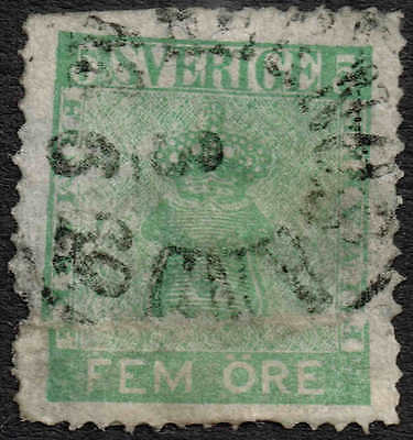 1858 5 ore fine used but very scarce, most attractive. Facit 7