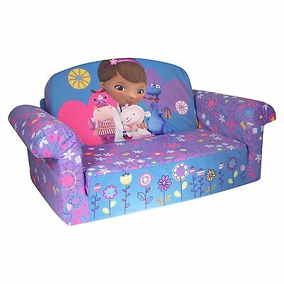 Marshmallow 2 in 1 Comfy Flip Sofa Doc Mcstuffins Toddler Nap Couch NEW