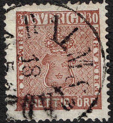 1858 30 ore, very fine used and very scarce, most attractive. Facit 11