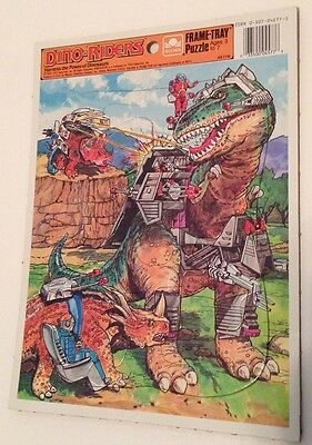 Dino-Riders Golden Frame Tray Puzzle 1988 New/Never Used