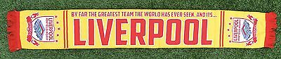 By Far The Greatest Team  Liverpool Football Scarf Yellow