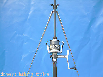 SEA FISHING KIT OKUMA 15ft BEACHCASTER ROD+SILK70 REEL+PARKER SURF BEACH TRIPOD