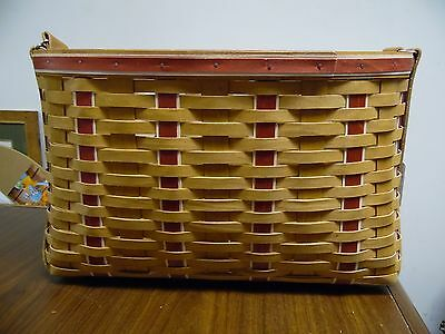 Longaberger 2009 Branch Leader Career Tote Red with Protector